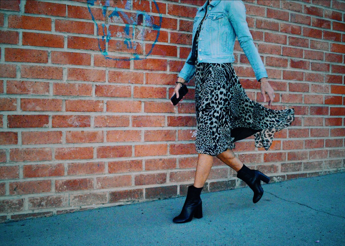 How to Wear Ankle Boots with Skirts and Dresses This Fall